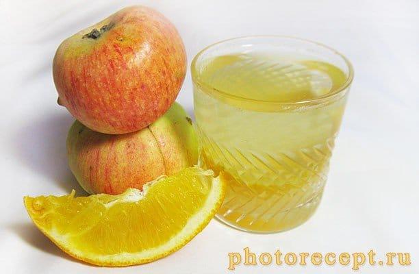 Компот из яблок и апельсинов на зиму - рецепт с фото