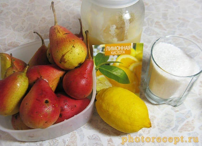 Фото рецепта - Компот на зиму из груш с медом - шаг 1
