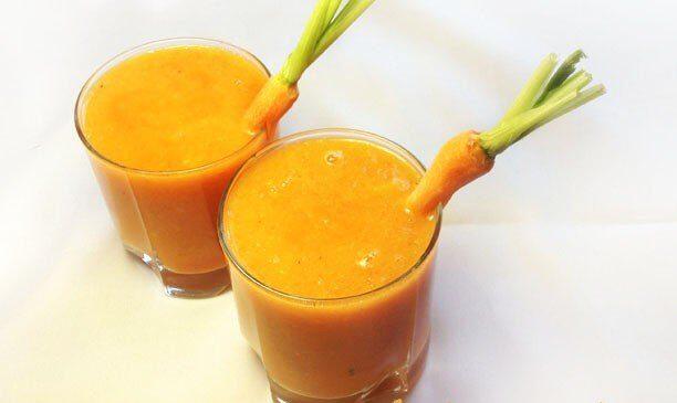 Морковно-апельсиновый смузи