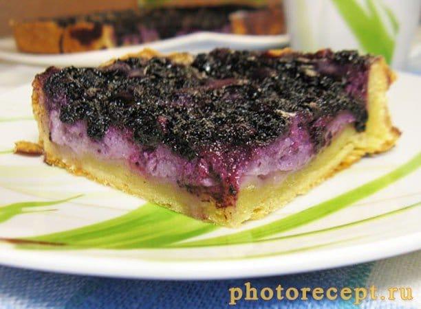 Финский пирог с черникой - рецепт с фото