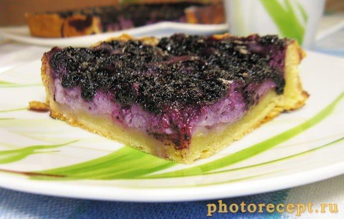 Фото рецепта - Финский пирог с черникой - шаг 6