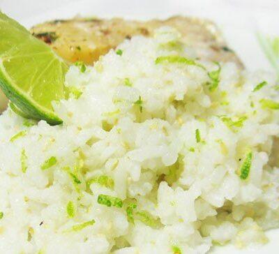 Рис с лаймом и кунжутом - рецепт с фото
