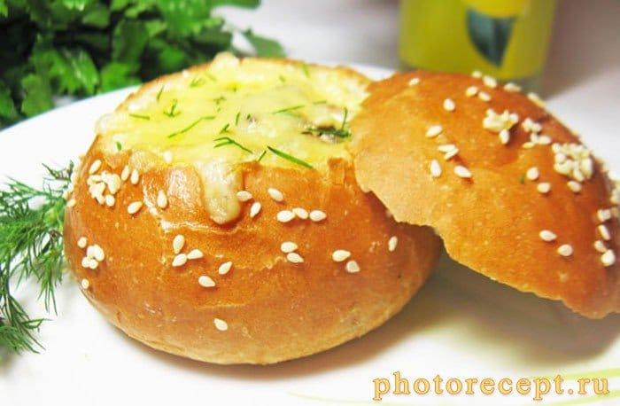 Жюльен в булочках - рецепт с фото