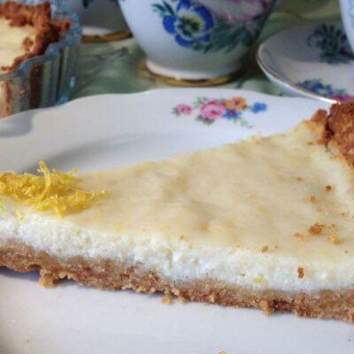 Лимонный пирог из печенья с рикоттой - рецепт с фото