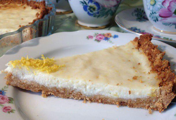 Лимонный пирог из печенья с рикоттой