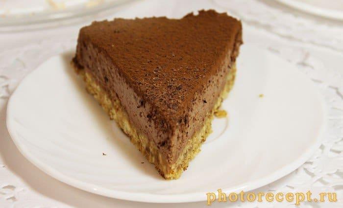 Фото рецепта - Шоколадный чизкейк - шаг 10