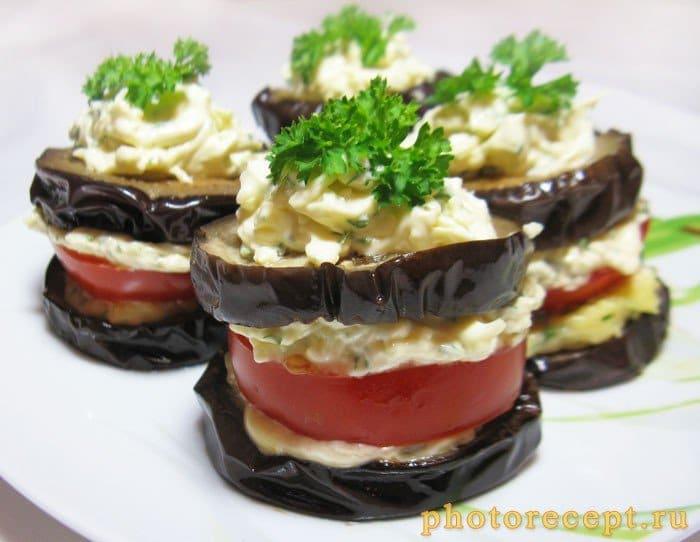 Фото рецепта - Закуска из баклажан с помидорами - шаг 8