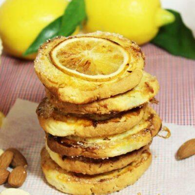 Миндальное печенье с дольками лимона - рецепт с фото