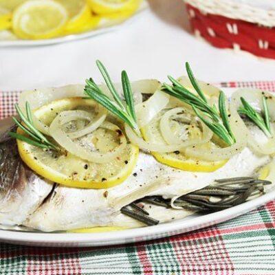 Сибрим с розмарином и лимоном, запеченный в фольге - рецепт с фото