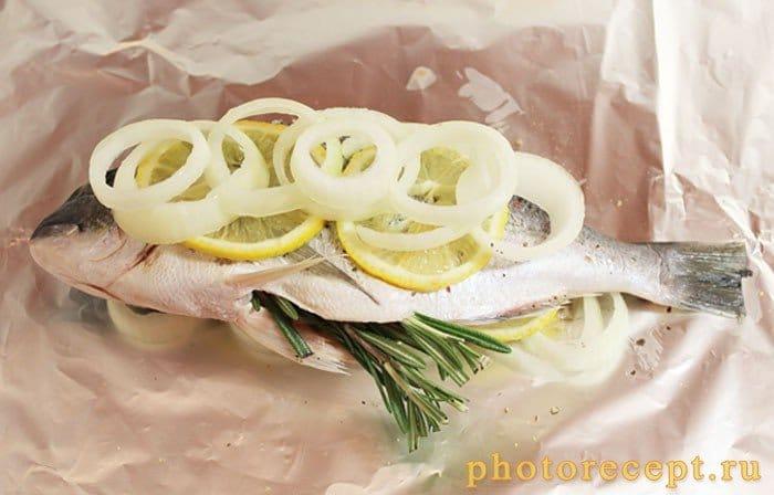 Фото рецепта - Сибрим с розмарином и лимоном, запеченный в фольге - шаг 7