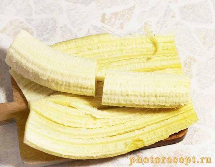 Фото рецепта - Блины с бананом и шоколадом - шаг 3