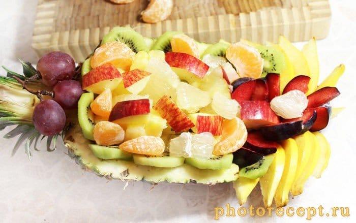 Фото рецепта - Фрукты в ананасе-Рог изобилия - шаг 6