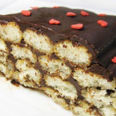Итальянский десерт с печеньем савоярди и шоколадным кремом - рецепт с фото
