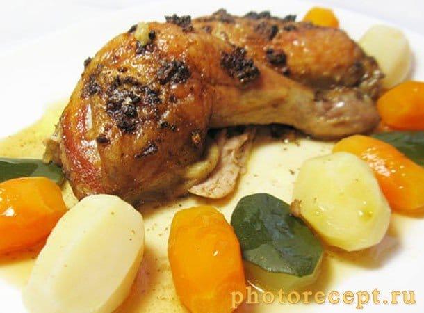 Куриные окорока, маринованные в соевом соусе