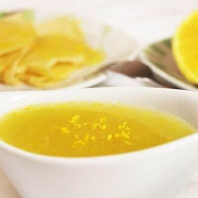 Апельсиновый сладкий соус с цедрой к блинчикам и оладушкам