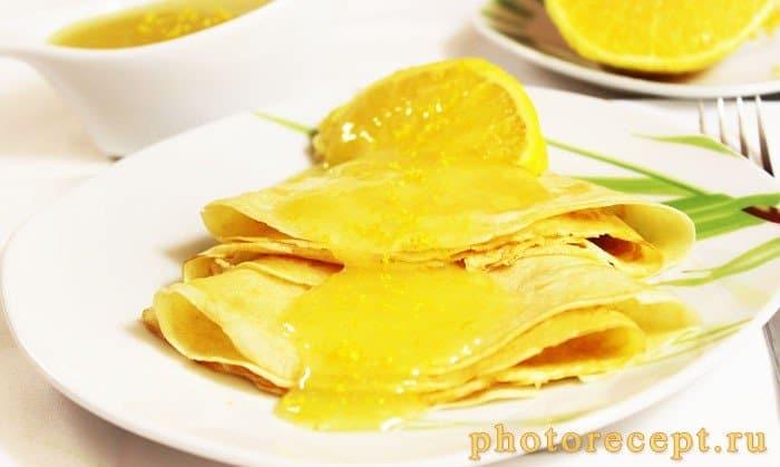 Фото рецепта - Апельсиновый сладкий соус с цедрой к блинчикам и оладушкам - шаг 10
