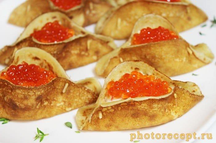 Фото рецепта - Блины, фаршированные морепродуктами - шаг 7