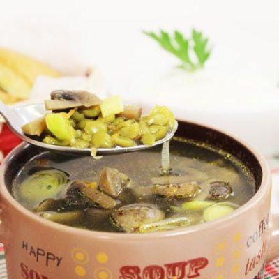 Гороховый суп с  шампиньонами - рецепт с фото