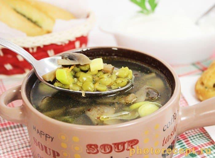 Фото рецепта - Гороховый суп с шампиньонами - шаг 6
