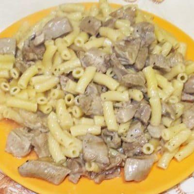 Макароны со свининой, на скорую руку - рецепт с фото