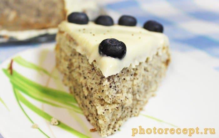 Фото рецепта - Маковый торт с маскарпоне - шаг 12