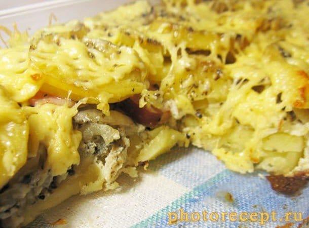 Запеченный картофель с копченой грудинкой