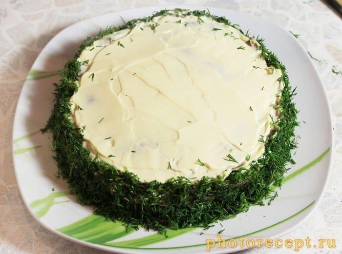 Фото рецепта - Печеночный торт - шаг 9