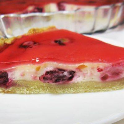 Тарт с вишней и сметаной - рецепт с фото