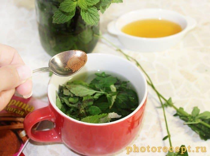 Фото рецепта - Чай с медом-Мятный микс - шаг 3