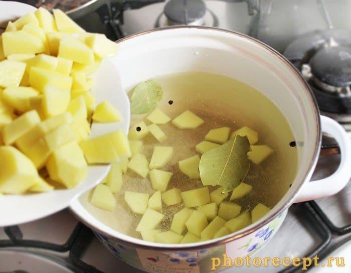 Фото рецепта - Картофельный суп с галушками - шаг 2