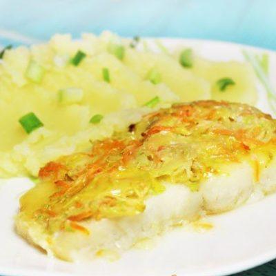 Треска с кабачком, запеченная в духовке - рецепт с фото