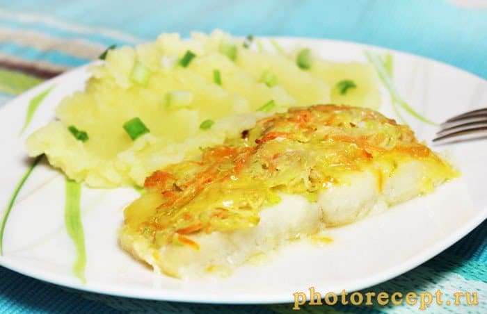 Фото рецепта - Треска с кабачком, запеченная в духовке - шаг 4