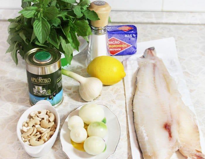 Фото рецепта - Пикша (треска), запеченная в духовке, под соусом песто - шаг 1