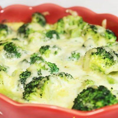 Запеканка с брокколи и сливками - рецепт с фото