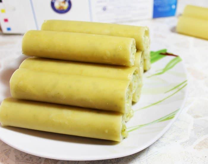 Фото рецепта - Каннеллони с брокколи и цветной капустой под томатным соусом - шаг 7