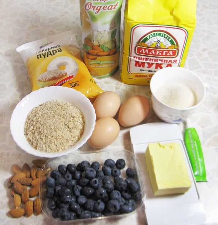 Фото рецепта - Миндальные кексы с голубикой - шаг 1