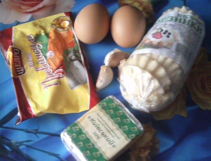 Фото рецепта - Салат из плавленых сырков в тарталетках - шаг 1