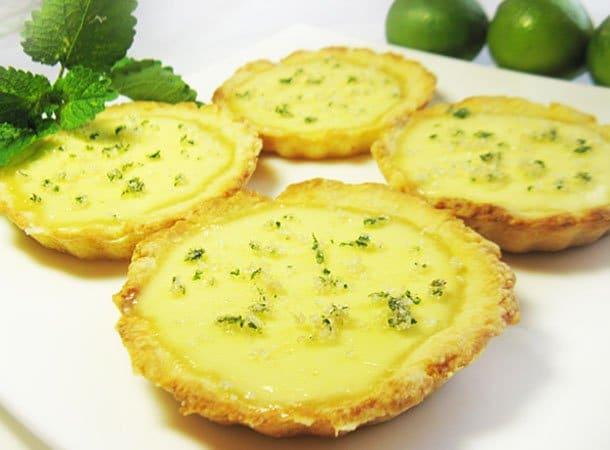 Тарталетки Мохито с  мятой и лаймом - рецепт с фото