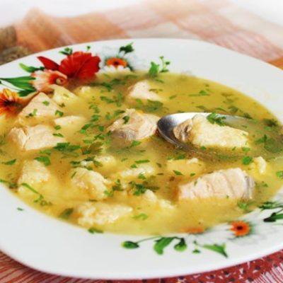 Рыбный суп с сырными клецками