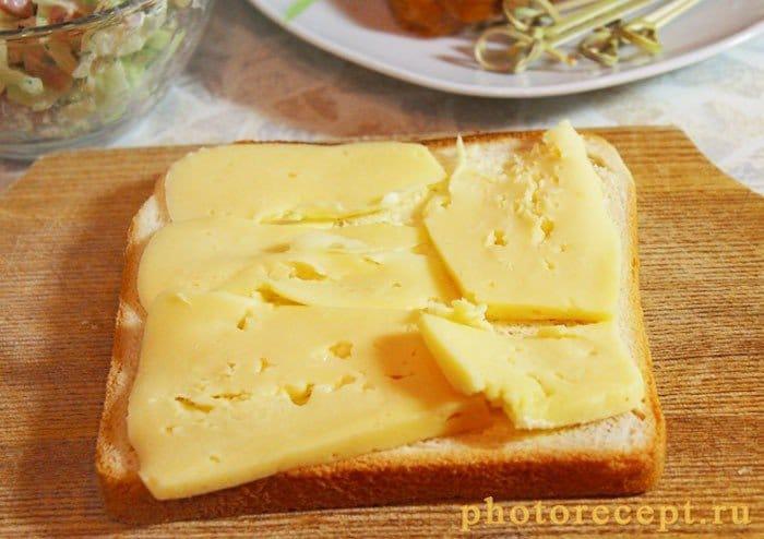 Фото рецепта - Горячие бутерброды с сыром и ветчиной - шаг 4