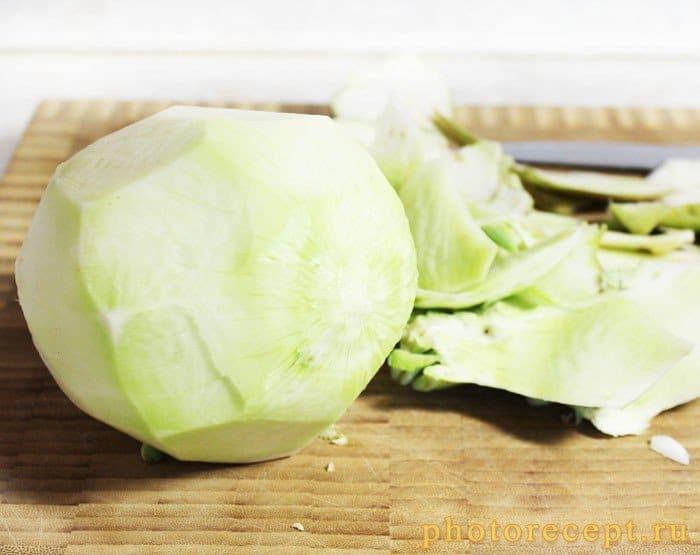 Фото рецепта - Запеченный сельдерей с перцем, сыром и сливками - шаг 1