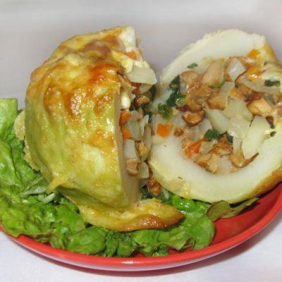 Фаршированная капуста кольраби - рецепт с фото