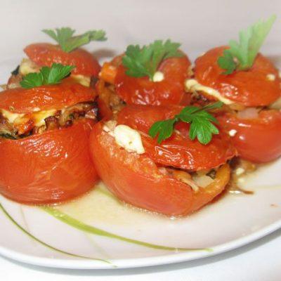 Помидоры, фаршированные грибами и кольраби - рецепт с фото