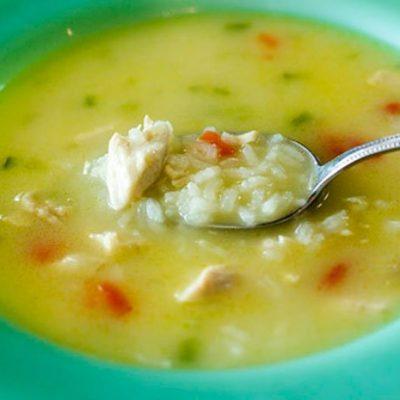 Куриный суп с рисом - рецепт с фото