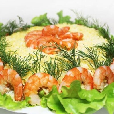 Морской салат с помело - рецепт с фото