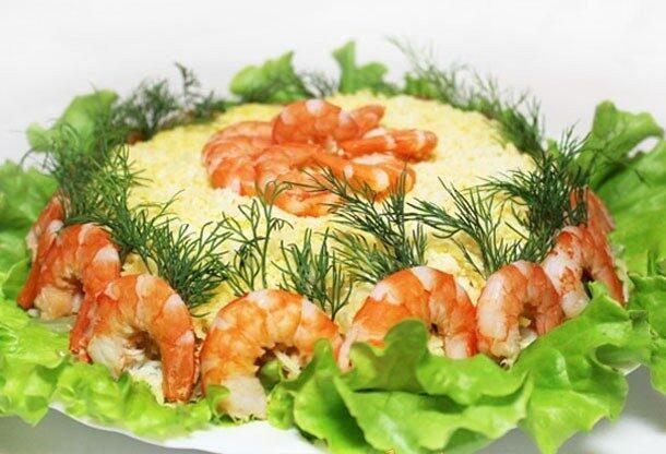 Морской салат с помело