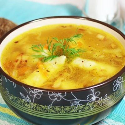 Картофельный суп с галушками - рецепт с фото