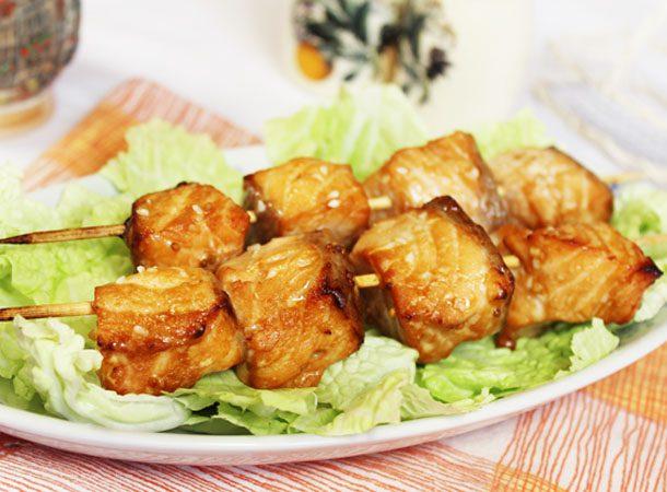Фото рецепта - Шашлык из рыбы, маринованный в соевом соусе - шаг 5