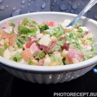 Рисовый салат с кукурузой - рецепт с фото
