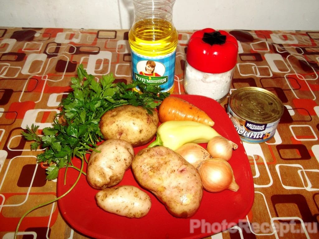 Фото рецепта - Рыбный суп из консервированной сардины - шаг 1
